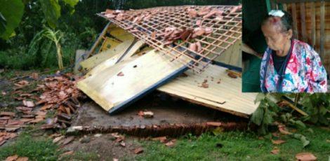 Kondisi Mbah Surati, korban rumah roboh di Desa Plosorejo Kecamatan Banjarejo Kabupaten Blora