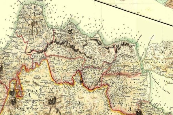 Peta Jawa tahun 1812