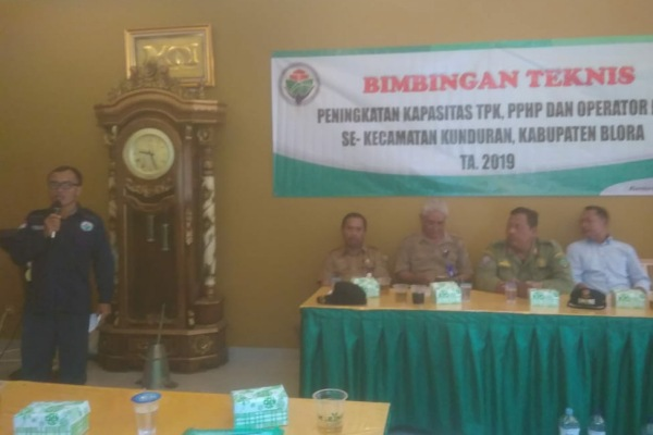 Bimbingan Teknis (Bimtek) Peningkatan Kapasitas TPK, PPHP, dan Operator Desa se- Kecamatan Kunduran