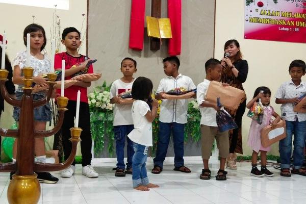 Suka cita Natal di Gereja Isa Al Masih Jepon, Kecamatan Jepon Kabupaten Blora