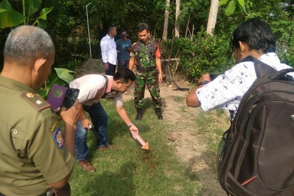 Aparat di lokasi terjadinya peristiwa pembacokan, di Dusun Ngrayung Desa Brumbung Kecamatan Jepon Kabupaten Blora