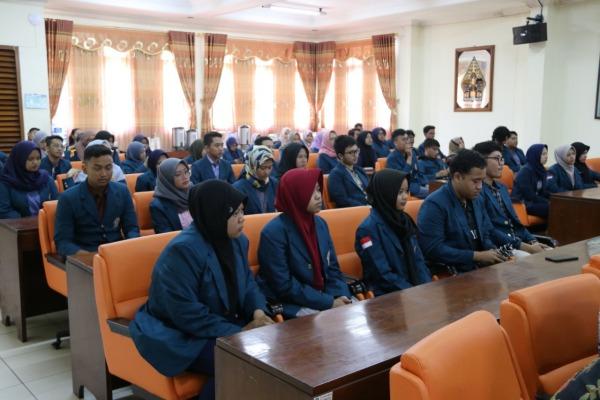 Penerimaan mahasiswa Undip di ruang pertemuan Sekretariat Daerah (Setda) Blora
