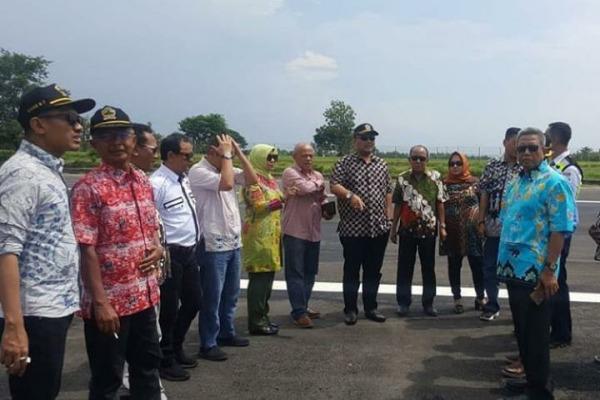 Kunjungan komisi D DPRD Jateng ke Bandara Ngloram Cepu, Kabupaten Blora