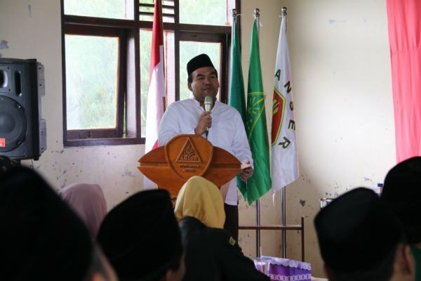 Wakil Bupati Blora, Arief Rohman dalam pembukaan LI dan Suspelat (Latihan Instruktur dan Kursus Pelatih) GP Ansor se wilayah Pati Raya di PP Al Hikmah Ngadipurwo, Blora