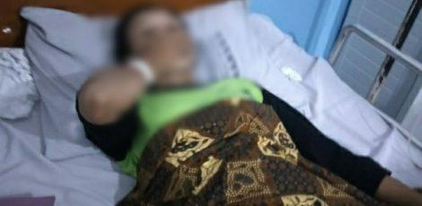 Kondisi Siti Ngapiyah (38) yang tengah menjalani perawatan di sebuah RS di Purwodadi Kabupaten Grobogan
