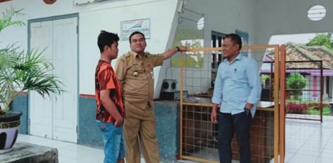 Wakil Bupati Blora, Arief Rohman meninjau Stasiun KA Wadu, Kecamatan Kedungtuban Kabupaten Blora