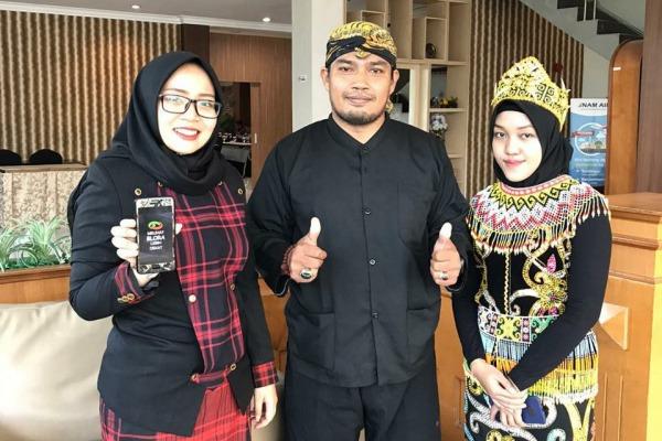 Pandu Nusantara (berbusana Samin) dalam Sarasehan Penguatan Akses Kearifan Lokal dan Keserasian Sosial yang diselenggarakan Pemprov Kalimantan Timur