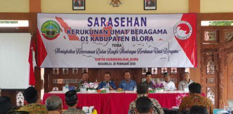Sarasehan Kerukunan Umat Beragama di Pendopo Kecamatan Bogorejo Kabupaten Blora