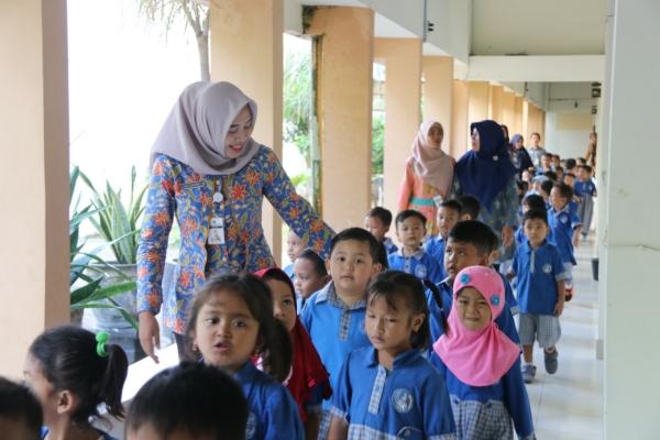Kunjungan TK Pertiwi Setda ke kantor Bupati Blora