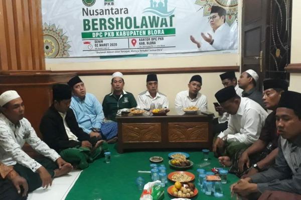 Nusantara Bersholawat di kantor DPC PKB Kabupaten Blora