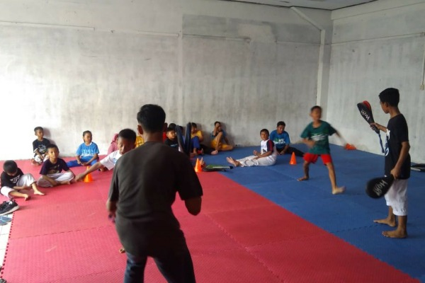 Persiapan taekwondoin Blora untuk mengikuti Kejurnas Dharma Wira Waskita 2020