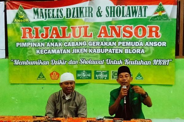 Ketua GP Ansor Kabupaten Blora, Achmad Riyadi (kanan)