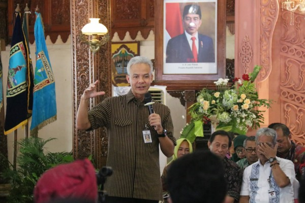 Gubernur Jawa Tengah, Ganjar Pranowo dalam Musrenbangwil tingkat karesidenan Pati di Kabupaten Jepara