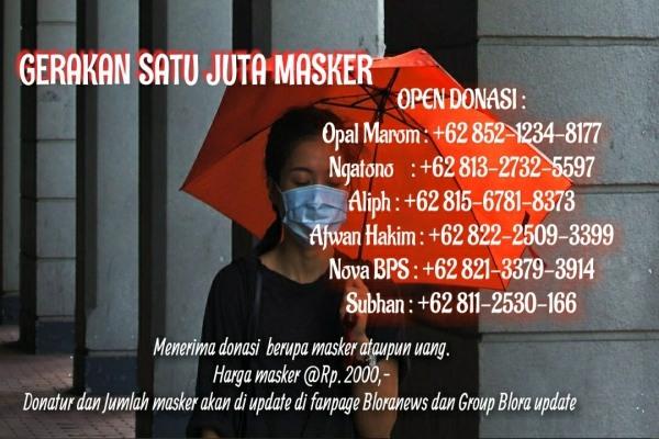 Leafled satu juta masker