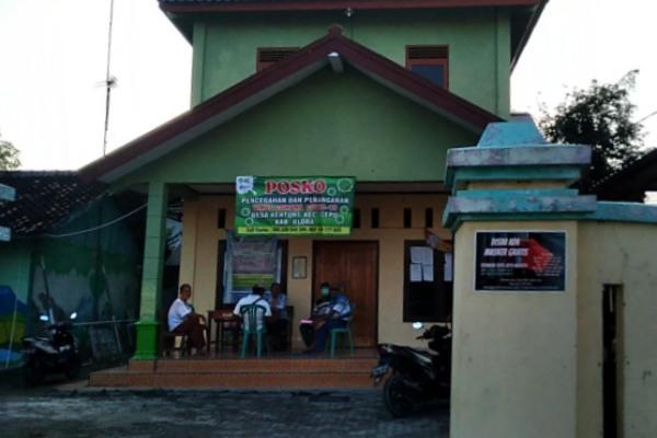 Posko covid-19 Desa Kentong Kecamatan Cepu