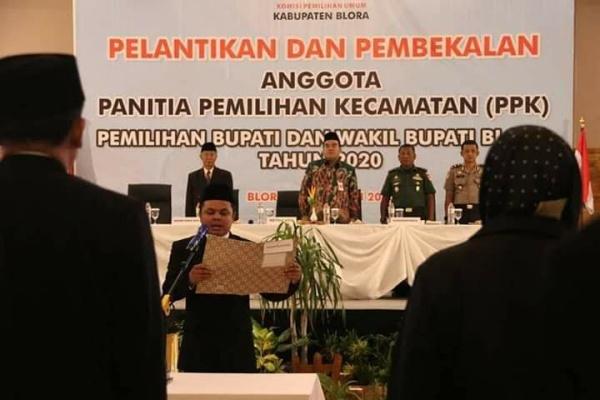Pelantikan  Panitia Pemilihan Kecamatan pemilihan Bupati dan wakil Bupati Blora 2020
