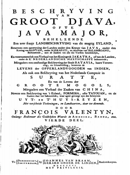 catatan Eropa karya Francois Valentijn.
