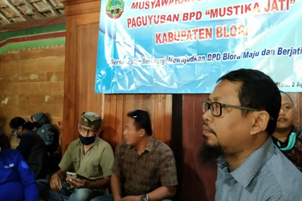 Pengukuhab paguyuban BPD Kabupaten Blora