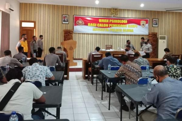 79 anggota personil Polres Blora ikuti tes psikologi sebagai syarat pemegang Senjata Api (Senpi).