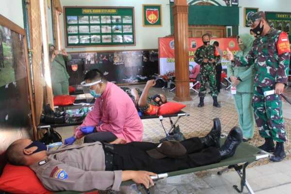 kegiatan Donor Darah di Aula Kodim Blora,