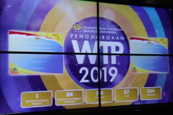 Rakornas dan pemberian penghargaan oleh Kementerian Keuangan Republik Indonesia secarang daring.