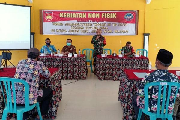 Kodim 0721/Blora gelar penyuluhan kepada warga di Balai Desa Jiken Kecamatan Jiken, Blora.