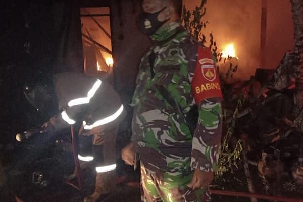 Kebakaran di Dk. Nglego Desa Purworejo Kecamatan Blora.