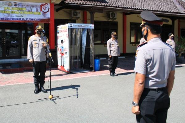 Kapolres Blora Polda Jawa Tengah, AKBP Ferry Irawan pimpin upacara kenaikan pangkat