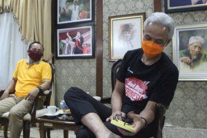 PEMDES PENGKOL JAGONG SAMPAIKAN AGENDA BAMBANGAN CAKIL KE GANJAR PRANOWO