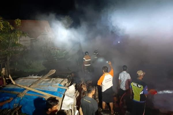Kebakaran di desa Botoreco Kunduran Blora