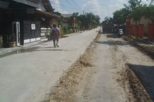 Pembangunan jalan menuju Bandara Ngloram
