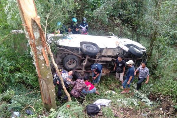 kecelakaan di sarangan