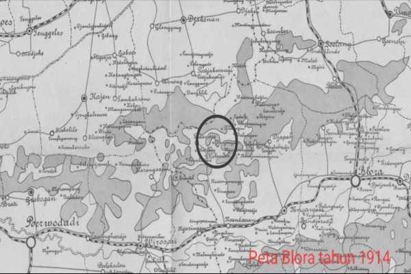 Peta Blora 1914