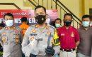 Kapolres Blora AKBP Ferry Irawan saat menggelar konferensi pers