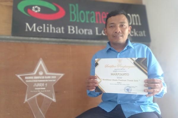 Marjuanto, Juara I : Modifikasi Mesin Pembuat Tusuk Sate