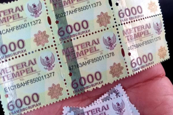 MASA TRANSISI, MATERAI RP 6.000 DAN RP 3.000 MASIH BISA DIPAKAI SAMPAI 31 DESEMBER 2021