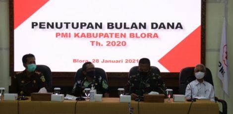 BUPATI APRESIASI BULAN DANA PMI KABUPATEN BLORA 2020