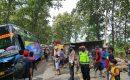 LAKA TUNGGAL DI SAMBONG SEBABKAN MACET 6 KM